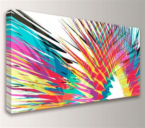 colorful canvas modern abstract colorful canvas print panoramic size