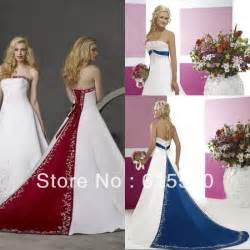 royal blue and silver wedding dresses retro style silver embroidery satin white and royal blue