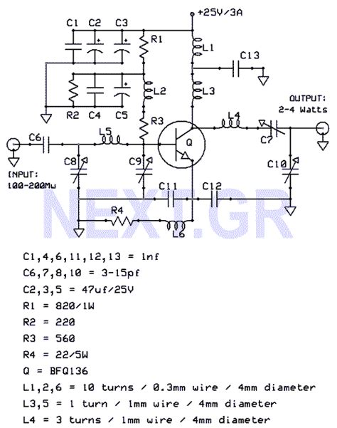 uhf transistor lifier 4watt uhf tv linear lifier lifier circuit circuit diagram seekic