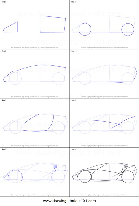 how to draw a sports car step by step drawingforall net how to draw a sports car for printable step by step