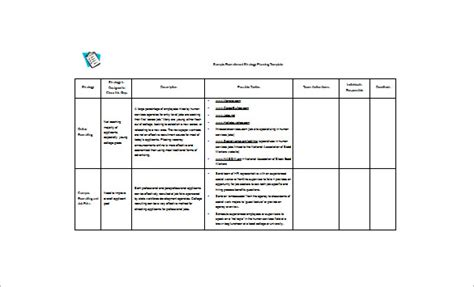 simple strategic plan template anuvrat info