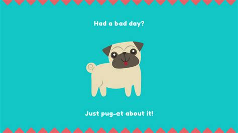 pug pun negative space desktop wallpaper templates by canva
