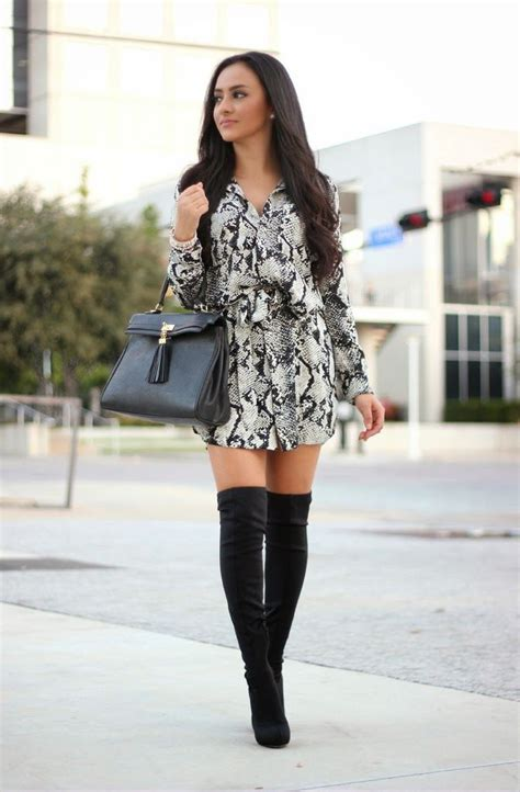 dress with boots 25 ways to style dresses with boots 2018 fashiontasty