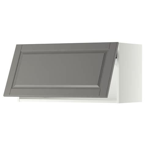 Ikea Horizontal Kitchen Cabinets Metod Wall Cabinet Horizontal White Bodbyn Grey 80x40 Cm Ikea