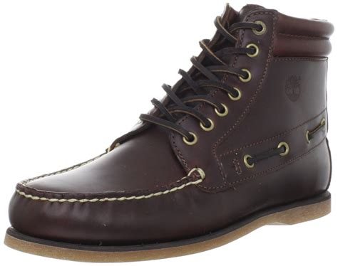 timberland mens 7eye chukka boot in brown for brown