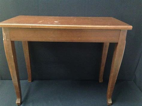 wood piano bench vintage wood piano bench w storage