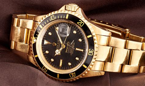 golden rolex vintage of the week gold rolex tiffany submariner 1680