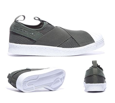 adidas slip on original adidas originals womens superstar slip on trainer shadow