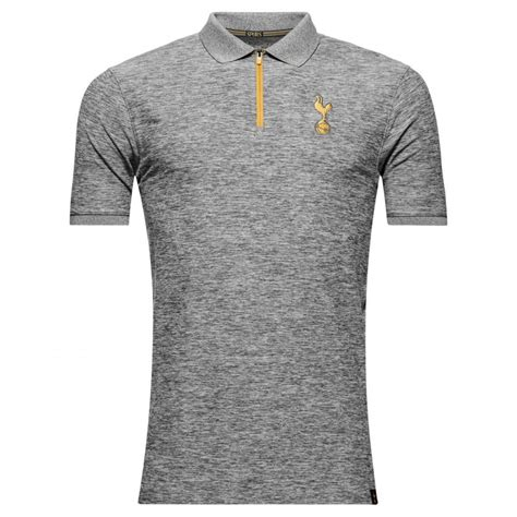 Kaos Polo Armour Tottenham Poloshirt tottenham hotspur spurs armour mens grey fitted player polo shirt 2016 17 ebay