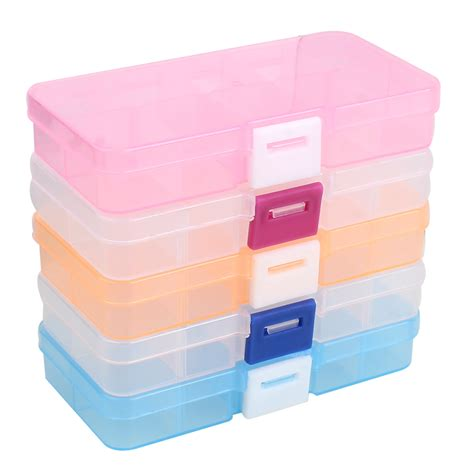craft storage containers plastic tool box 10 cells jewelry rings craft