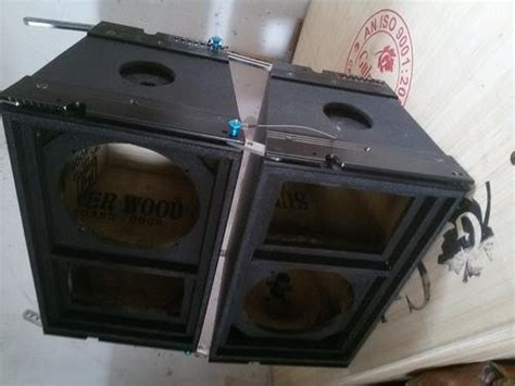 dj speaker box cabinet manav d j speaker cabinet flight mfg and dual 15