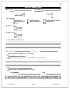 employee write up form template free