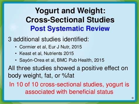 cross sectional study limitations yogurt and weight management new insights on the evidence