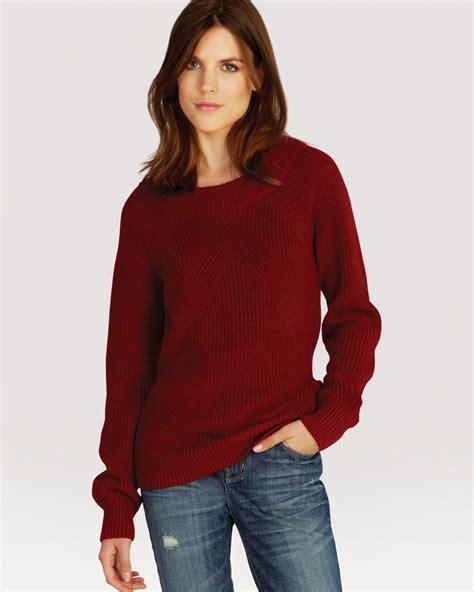 red boat neck sweater lyst karen millen sweater 50s boat neck in red