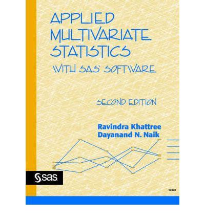 Applied Multivariate Statistics With R Applied Multivariate Statistics With Sas R Software