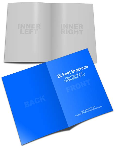 4 x 5 5 folded card template 6x9 bi fold brochure mockup cover actions premium