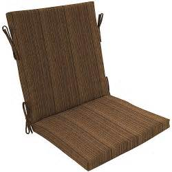Patio Chair Cushions Walmart Breezeport Texture Brown Chair Cushion Patio Outdoor Decor Walmart