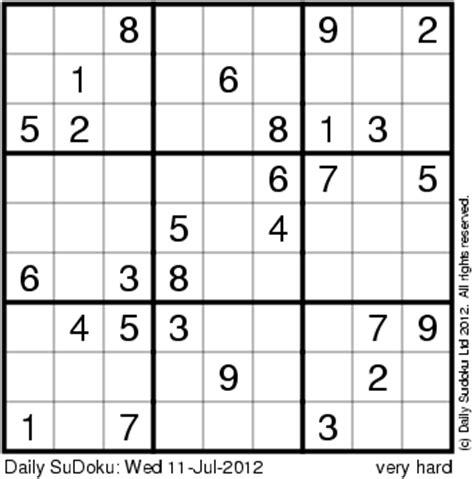 Printable Sudoku Daily | the daily sudoku