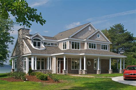 Lake House Plans platte lake house award winning shingle style home