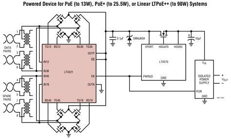 linear diode bridge lt4321 poe ideal diode bridge controller linear technology