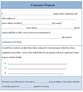 proposal template for contractor example of contractor