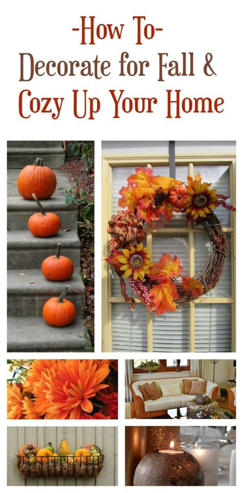 tips on how to decorate your home how to decorate for fall and cozy up your home pretty