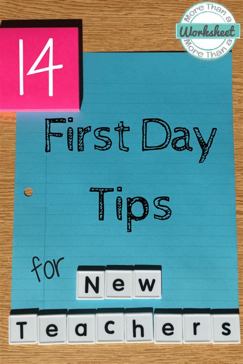 themes for an english day first day of school tips for new teachers more than a