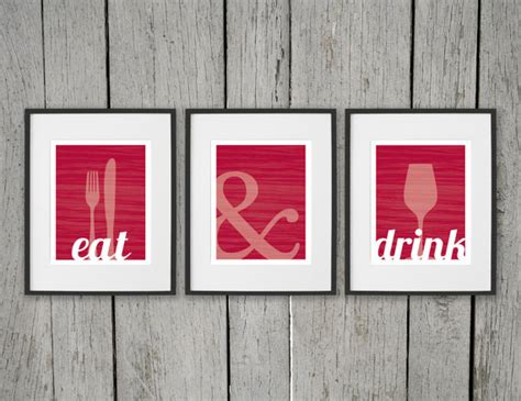Dining Room Prints Dining Room Prints Wall Eat Drink Fork By Daphnegraphics