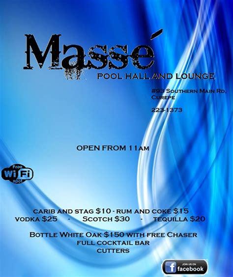 masse pool table price masse pool lounge in curepe id 1109