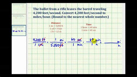 how to m ex convert feet per second to miles per hour youtube