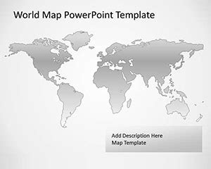 Free Vector Map Of The World For Powerpoint World Map Powerpoint Template