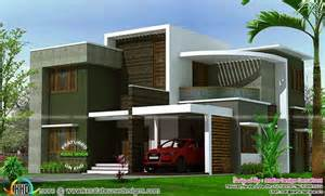 home design box type 2400 sq ft contemporary box type house kerala home