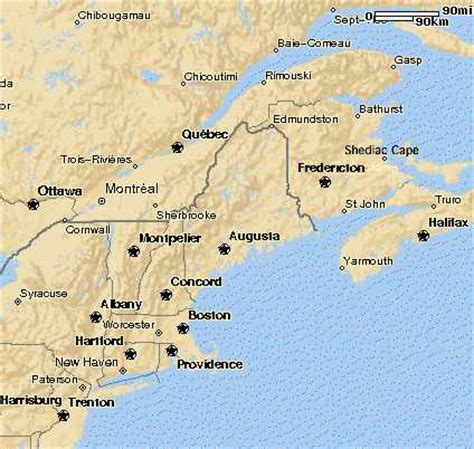 map us eastern seaboard connecticut maps