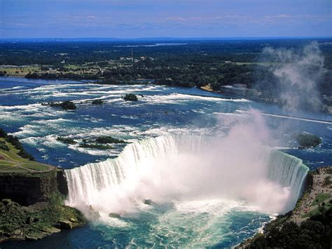 A Place Falls Give Incandescent Sun The Niagara Waterfalls