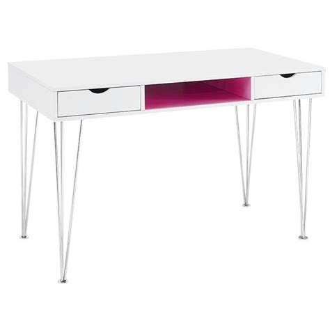 walker edison computer desk in hot pink d48ca1pk