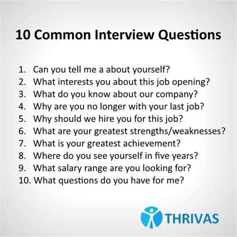 10 common interviewquestions make sure to be prepared
