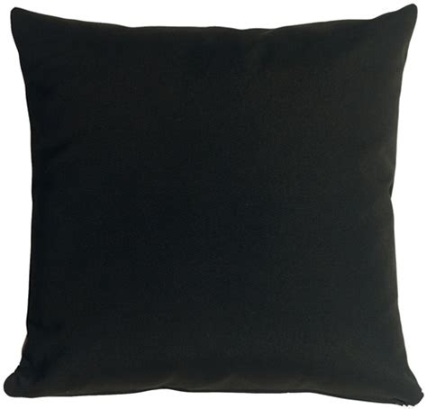 Black Pillow sunbrella black 20x20 outdoor pillow from pillow decor