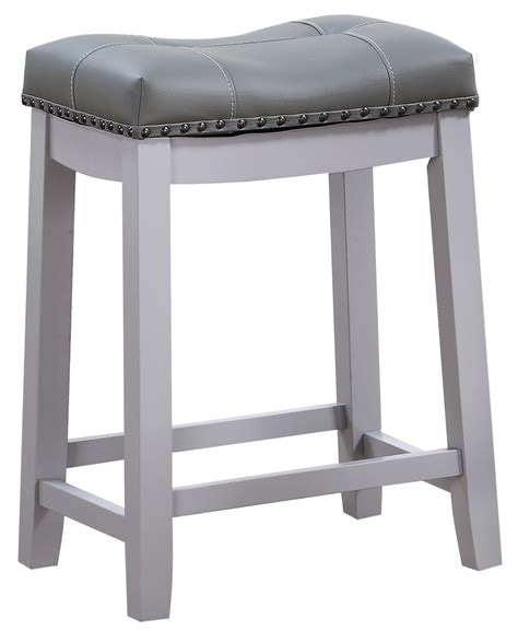 Line Cambridge Padded Stool by Line Cambridge 24 Quot Padded Saddle Stool Gray W Gray