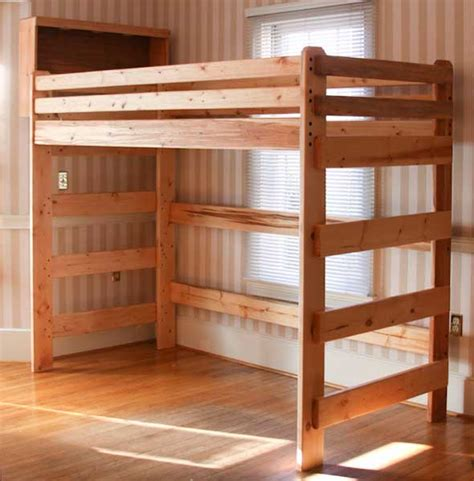 how to loft dorm bed free loft bed plans for college quick woodworking projects