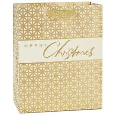 gold grid merry christmas medium christmas gift bag  gift bags hallmark