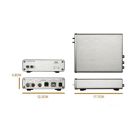 Topping D30 High Resolution Usb Dac topping d30 usb dac 24bit 192khz dsd 128 xmos cs4398 silver audiophonics