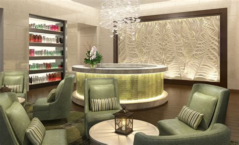 Kitchen Decorating Ideas Themes by Beauty Salon Interior Lighting And Wall Design Rendering