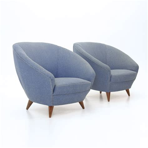 round armchairs italian round blue armchairs 1950s set of 2 for sale at