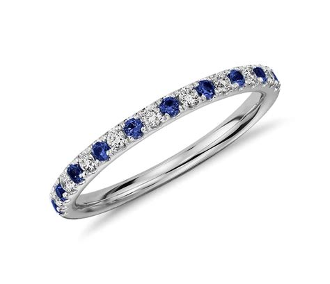 Wedding Rings With Sapphires And Diamonds by Pav 233 Sapphire And Ring In 18k White Gold Tanary