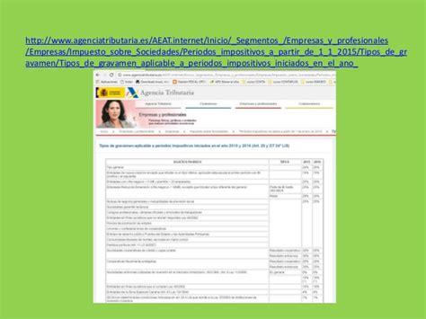 calculo impuesto sociedades 2015 impuesto de sociedades para slideshare