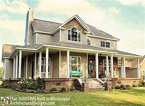 traditional house plans with porches plan 16805wg country farmhouse with wraparound porch