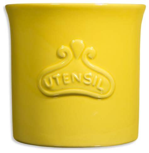 yellow kitchen utensil holder utensil crock yellow farmhouse utensil holders and