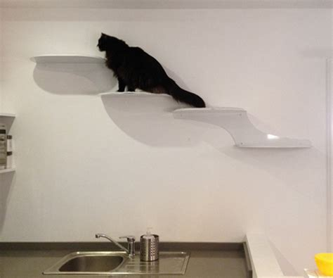 Cat Clouds Cat Shelf by Cat Climbing Heaven All In White Hauspanther