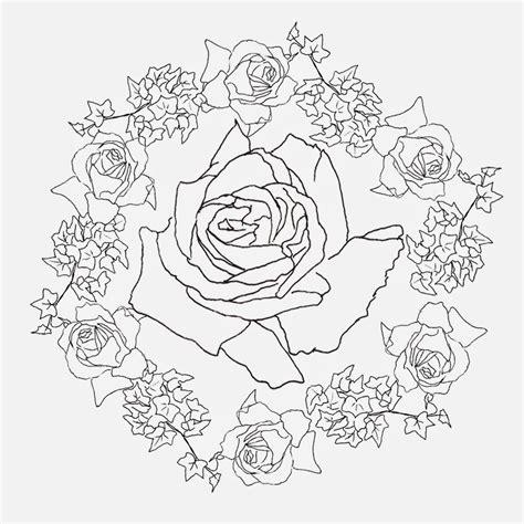 imagenes de mandalas rosas mandalas de rosas para colorear imagui