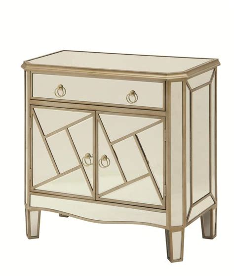 mirrored accent cabinet coaster accent cabinets geometrical mirrored accent cabinet